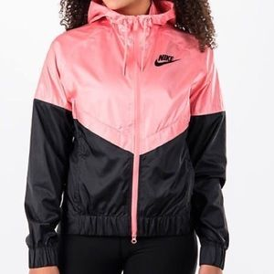 Nike Pink & Black Windrunner